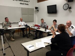 The Public Speaking Lab and Citadel staff work with faculty and cadets on preparing for media events